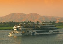 Cruise ship on the Nile