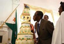 Organisers claim as many as 50,000 guests are expected at one of the feasts to celebrate Robert Mugabe's birthday [Aaron Ufumeli/EPA]
