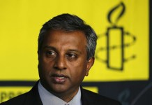 Amnesty International's Secretary General Shetty speaks during an interview with Reuters in Mexico City