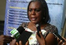 Mrs Freda Yahana Duplin, MD of Nestle Ghana Limited speaking to the media at the conference