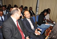 Some dignitaries at a Centre for CSR West Africa's event