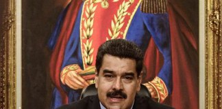 Venezuelan President Nicolas Maduro, takes part in an international press conference at Miraflores Palace, in Caracas, capital of Venezuela, on May 17, 2016. [Photo/Xinhua]