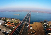 Aerial image of the Zemun-Borca Bridge. (Photo: China Road and Bridge Corporation)