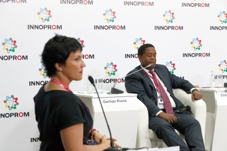 Dyachenko moderating Russian-African Forum