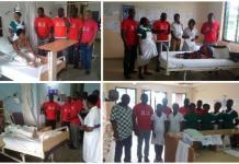 Vodafone reps at the Hospital