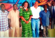 Board Members with Patron, Charles Laba