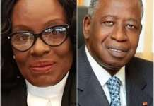 Ghana's Attorney General Gloria Akuffo, and Ivory Coast's Adviser to the President,Adama Toungara.