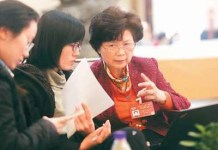 More and more women are participating in political affairs in China. (Photo by Xu Ye from People's Daily)