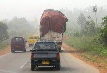 Techiman-Kintampo road