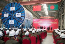 China's largest shield tunneling machine is ready for export on March 13, 2018. (Photo from the official website of the Tianhe Mechanical Equipment Manufacturing Co., Ltd)