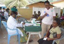 HOST COMMUNITY MEMBERS BEING SCREENED FOR VARIOUS AILMENTS