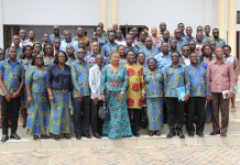 Prof Samuel Kwame Offei (3rd on front row) in group photo with dignitaries and participants
