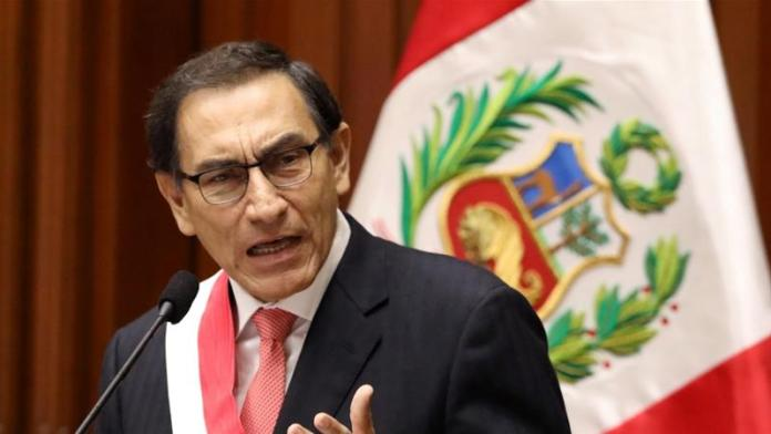 Peruvian President Martin Vizcarra called for a new vote of confidence [Mariana Bazo/Reuters]