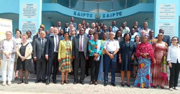 Chief Justice Sophia Akuffo (5th from right on front row) in a group photograph with participants
