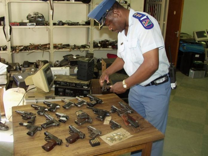 ILLEGAL: Illegal weapons seized by the police. PHOTO: NAMPA