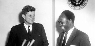 Presidents John Kennedy and Kwame Nkrumah, Washington DC, March 1963