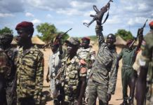 Spla Soldiers Near Juba April