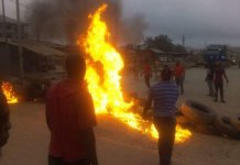 Block Roads Burn Tyres