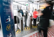 Biometric self-boarding gates - Domestic stands at T5