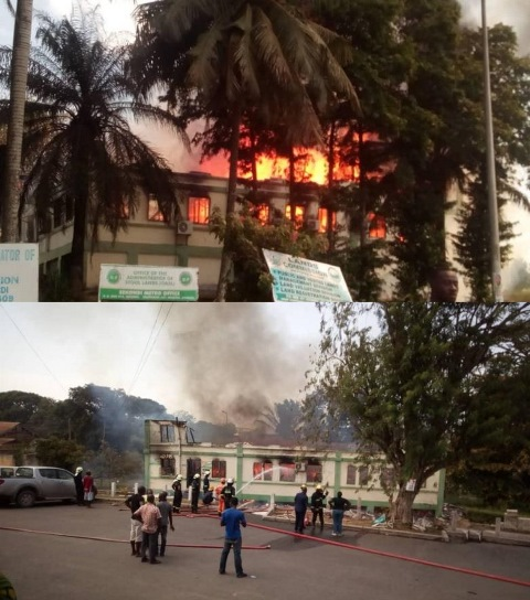 Wr Stool Lands Office Fire