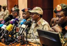 Sudan Transitional Military Council leaders in Khartoum