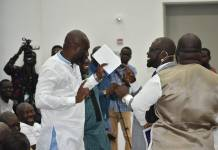 Healthy Rivalry As Two GFA Presidential Hopefuls Hug And Dance At Ghana Exim Bank