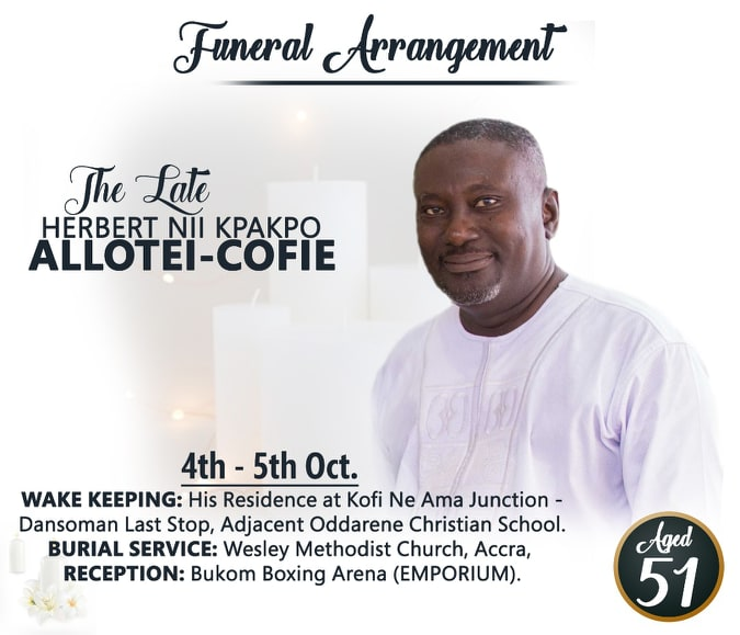 Funeral of the late Herbert Nii Kpakpo Allotei Cofie
