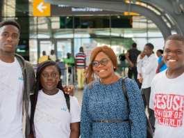 David Ebow Ampiaw extreme left Cheryl Omani-Baah, Ninnette Quaofio and Olufemi Abodunrin