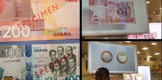 Bank Of Ghana introduces GH¢100, GH¢200 notes and GH¢2 coin