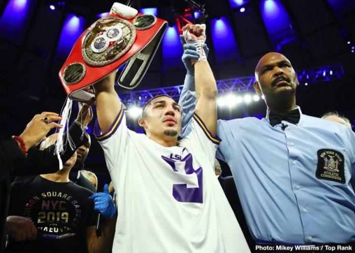 New IBF Champion Teofimo Lopez