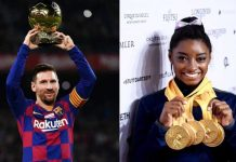 Simone Biles (USA) and Lionel Messi (Argentina) crowned AIPS Athletes of 2019. Photos/Getty images