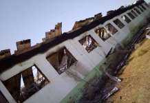 damaged school