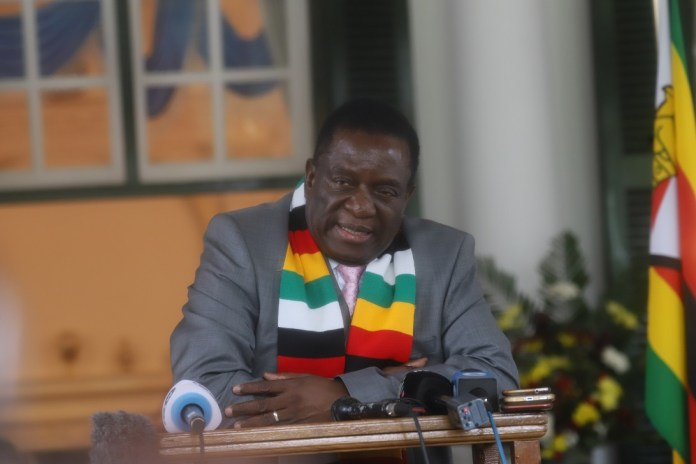 Zimbabwean President Emmerson Mnangagwa addresses a press conference in Harare, capital of Zimbabwe, March 17, 2020. In an update to the nation on Tuesday, Zimbabwean President Emmerson Mnangagwa declared COVID-19 a national disaster, saying that the country had escalated its national response to the virus after neighboring countries in the region had reported cases. (Xinhua/Shaun Jusa)