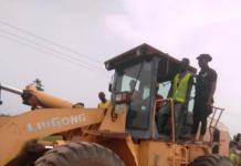 Professor Yankah Cuts Sod For The Construction Of Bawjiase Swedru Road