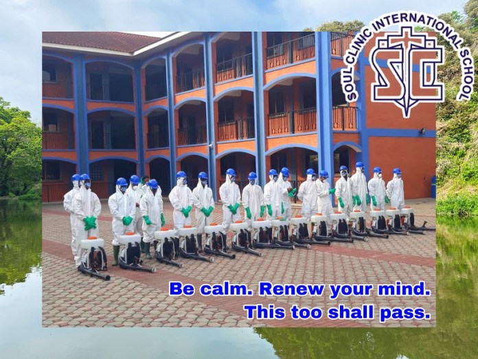 Soul Clinic International disinfects school