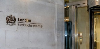 Photo taken on Feb. 28, 2020 shows the exterior of London Stock Exchange Group in London, Britain. British stocks decreased on Friday, with the benchmark FTSE 100 Index down by 3.18 percent, or 215.79 points, to close at 6,580.61 points. (Xinhua/Han Yan)