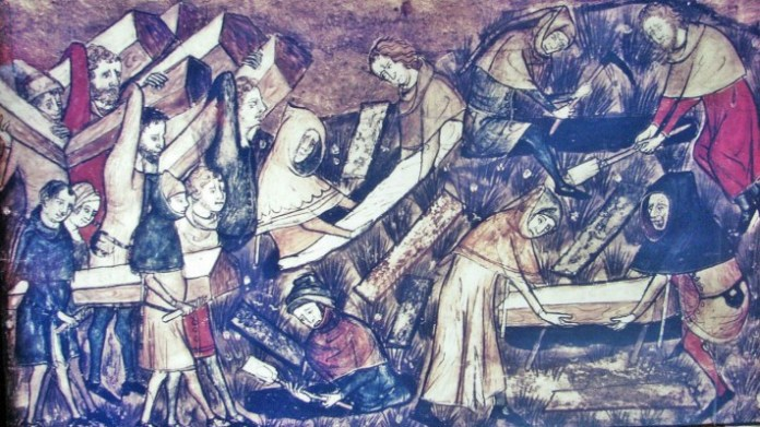 Black Death Pandemic During The Th Century An Artistic Depiction