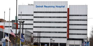 Detroit Receiving Hospital During The Covid Outbreak In The City
