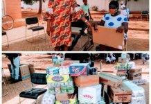 Kpone Katamanso Social Welfare Presents Items To Pwds