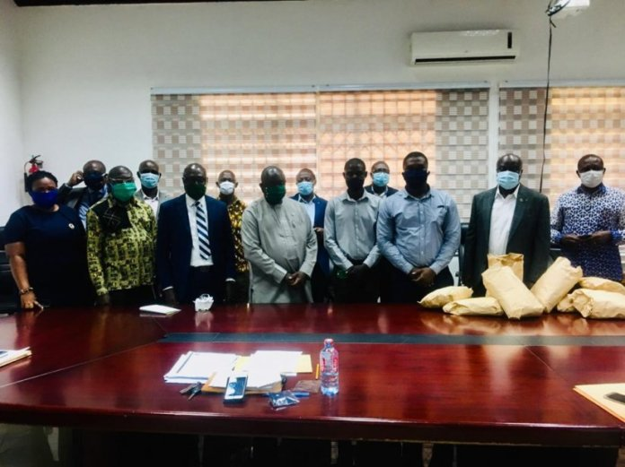 Lands Commission Staff Donate Face Masks To Fight Covid