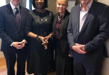 Pictured are Dan Conley, Communications Director, Fortify; H.E Toyin Saraki, CEO Wellbeing Foundation Africa, Nancy Martin, CEO Fortify, and Bryan Pearson, Director, Fortify