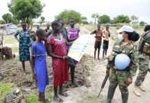 Unmiss Ghanbatt Undertakes Covid Awareness Campaign