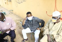 Sudanese people are seen wearing face masks in Khartoum, Sudan, on March 14, 2020. Sudan's Health Ministry on Friday announced the death of a Sudanese citizen infected with COVID-19. (Photo by Mohamed Khidir/Xinhua)