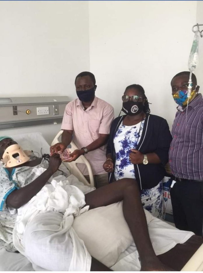 Foundation Supports Surgery Of Security Guard
