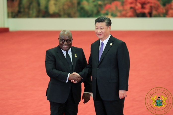 President Akufo Addo With President Xi Jinping Of China