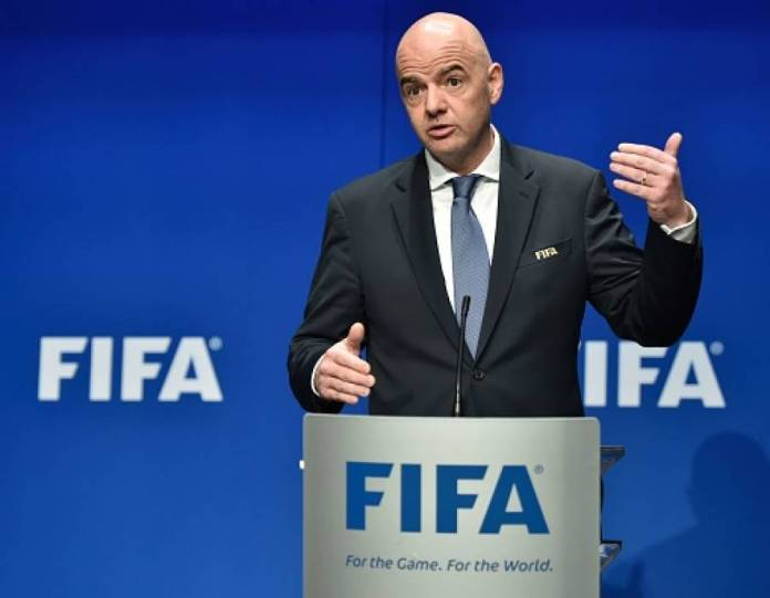 FIFA President Gianni Infantino. (Photo by FIFA)