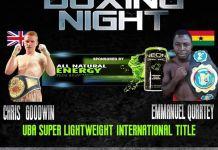 Emmanuel Quartey To Fight
