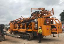 The completed drill rig