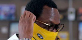 MTN Ghana CEO, Selorm Adadevoh wearing his face mask