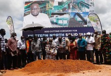 President Akufo Addo Cuts Sod For The Construction Of A Waste Treatment Plant In Western North Region